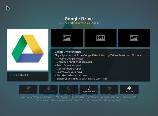 Tutorial - Aceder a multimédia do Google Drive no Kodi