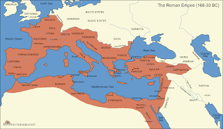 Map of the Roman Empire, First Century AD