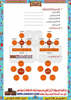 حصريا مراجعة ذاكرولي في اللغة العربية للصف الثالث الابتدائي الترم الأول 2020