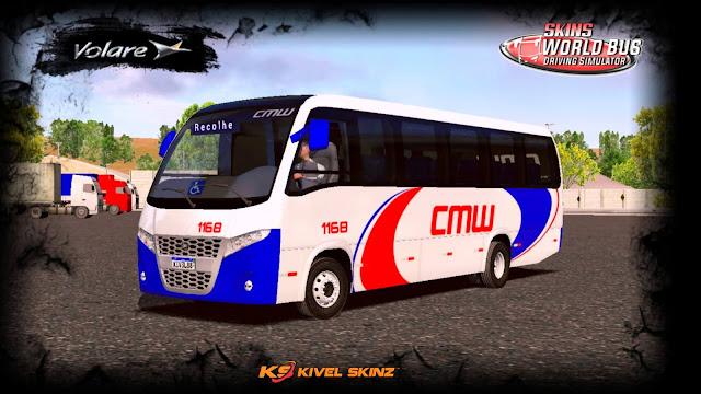 VOLARE W9 FLY - VIAÇÃO CMW TRANSPORTES BRANCA