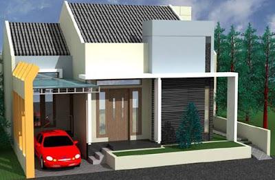 Model Gambar Desain Rumah Minimalis 1 Lantai Type 45