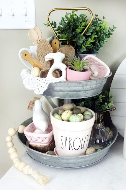 2 Tiered Spring Shelf & Spring Inspo