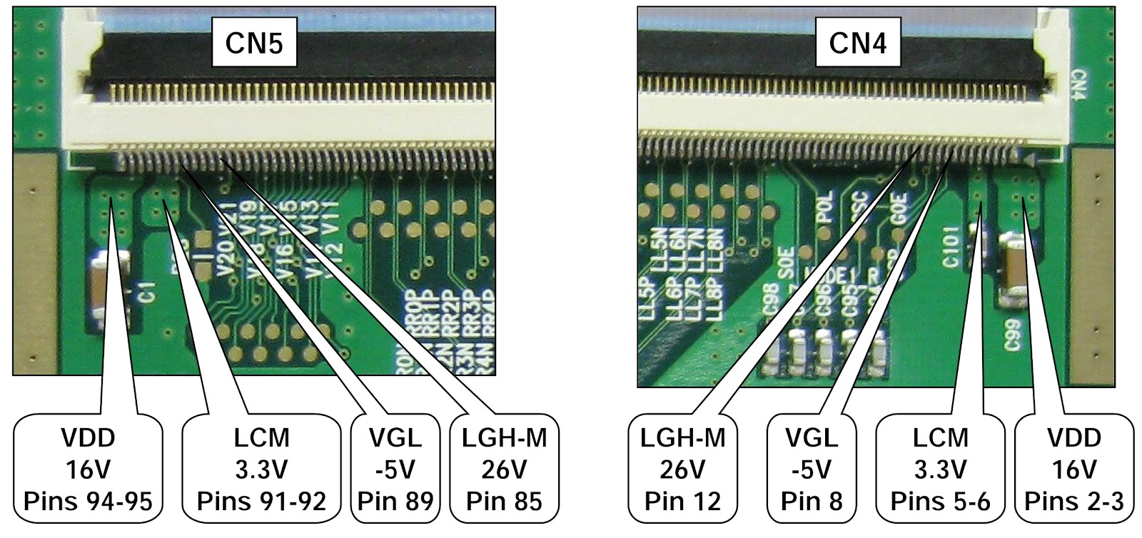 Electro help: LG 47LG90 LED LCD TV  T'CON BOARD  VOLTAGE CHECK  FUSE CHECK  VOLTAGE CHART