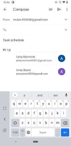 Quickly add a contact into a Gmail message on Android 1