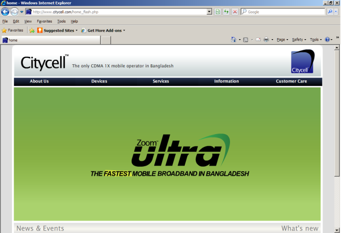 citycell zoom ultra software