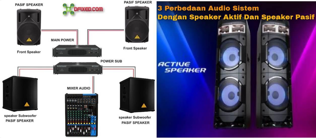 3 Perbedaan Audio Sistem Dengan Speaker Aktif Dan Speaker Pasif