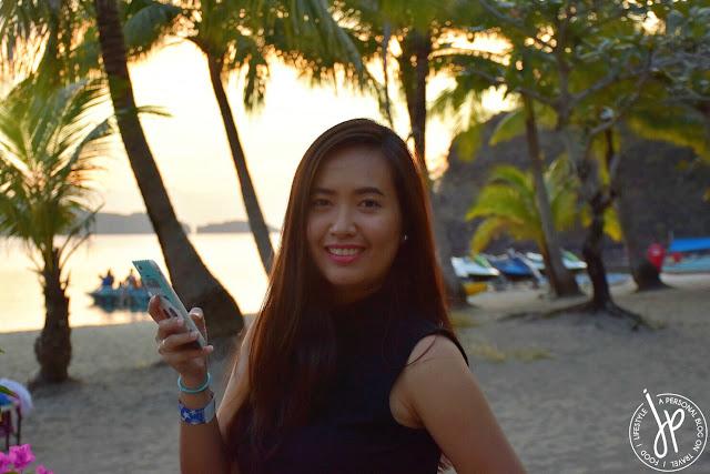 woman, beach, sunset, coconut trees