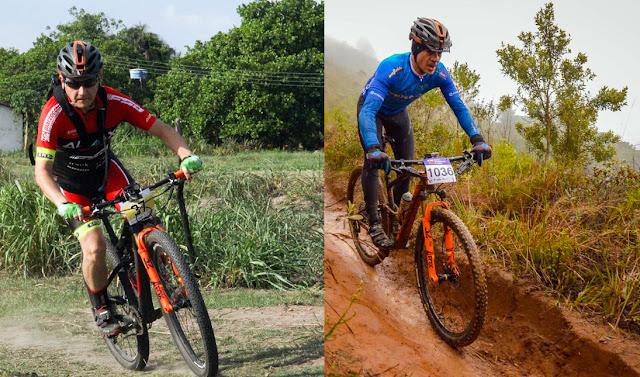 Os ciclistas Luiz Kuhlmann e Fabrício Fernandes