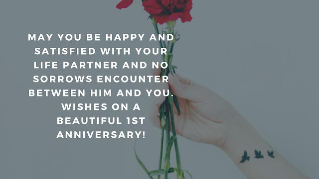 1st wedding anniversary facebook status