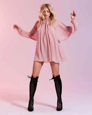 vestido rosa corto de moda