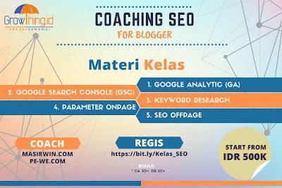 belajar seo untuk blogger bersama growthing
