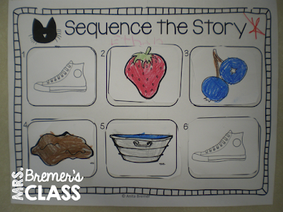 Sequencing activities to go with Pete the Cat