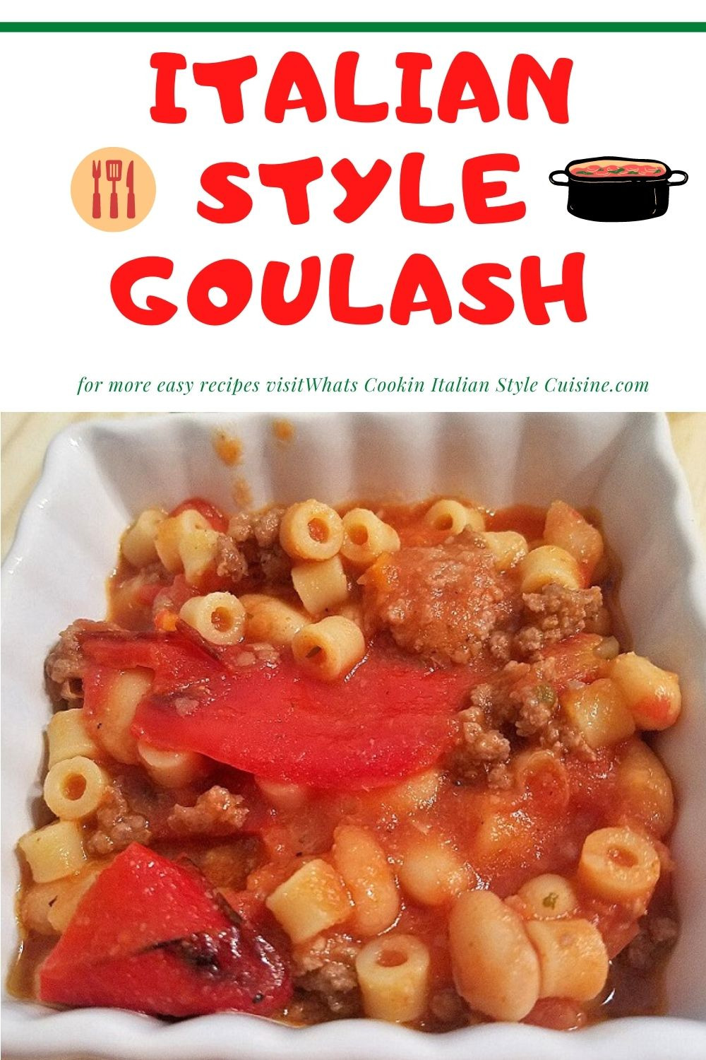 this is a pin for later on how to make goulash Italian style