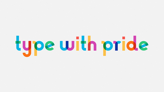 type with pride gilbert Baker font