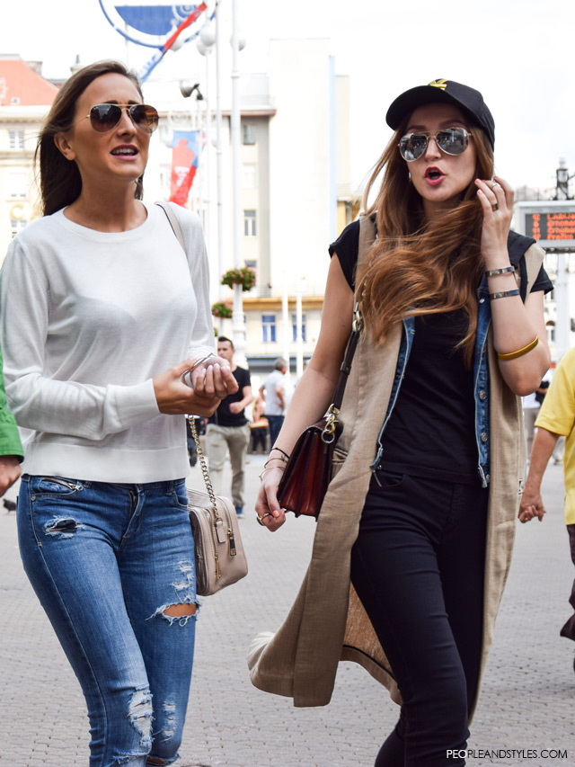 Marijana Kajkić, Dajana Bartolić, Street style Zagreb, Croatia by People & Styles, end of summer fashion