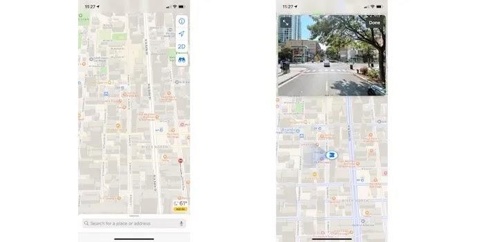 تخصيص خرائط Apple Street View