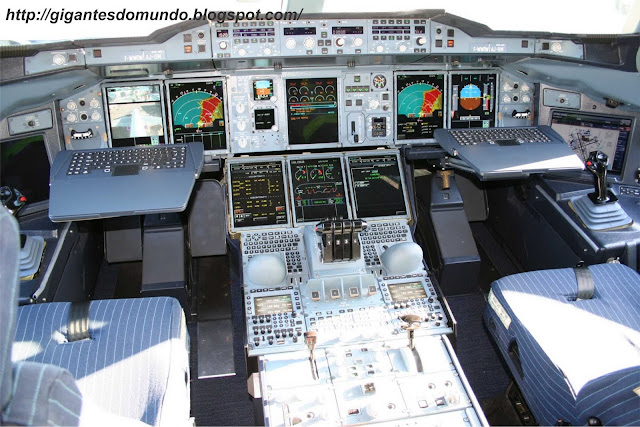 cabine do Airbus A380
