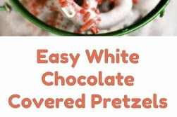 Easy White Chocolate Covered Pretzels