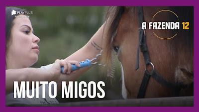 A Fazenda 12 – Victória cuida do cavalo Lyon – Mirella e as cabrinhas