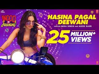Hasina Pagal Deewani - Mika Singh and Asees Kaur Lyrics