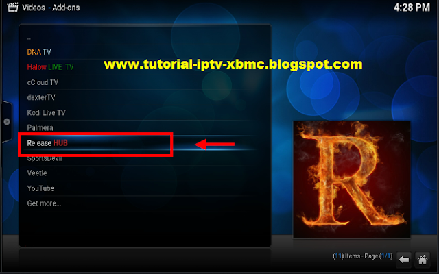 how to get exodus on home screen for kodi