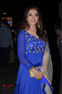 Telugu Actress Tejaswi Madivada Pos in Blue Long Dress at Nanna Nenu Na Boyfriends Audio Launch  0092.JPG