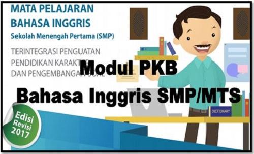 Download Modul PKB Bahasa Inggris Sekolah SMP/MTs Edisi Revisi 2017