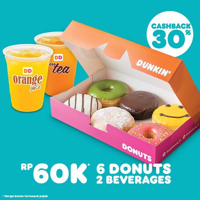 #DunkinDonuts - #Promo Harga Special 6 Donuts & 2 Beverages Hanya 60K (s.d 16 Sept 2019)