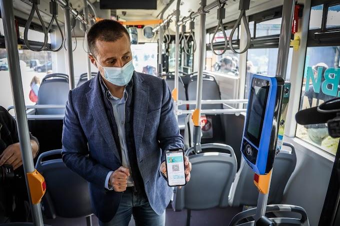 Електронна карта за еднократно пътуване в градския транспорт може да бъде закупена през онлайн приложение – MPASS
