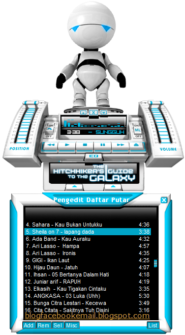 winamp skin download Hitchhikers Guide