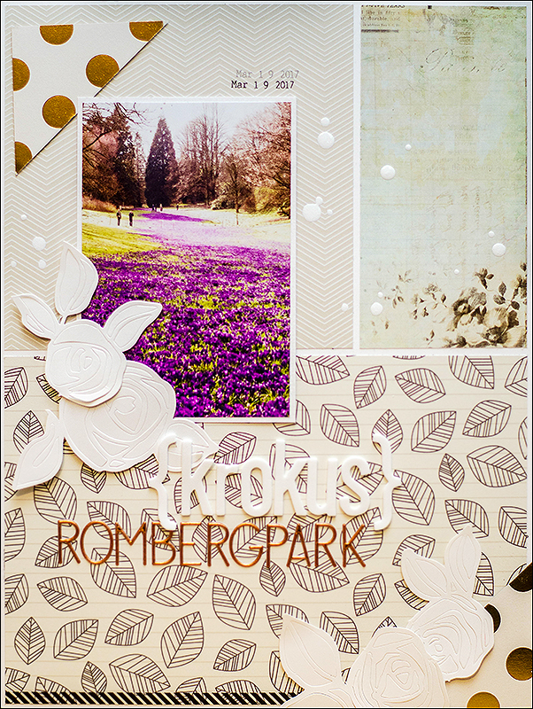 Stephanie Berger - Scrapbooking - Layout - Krokus