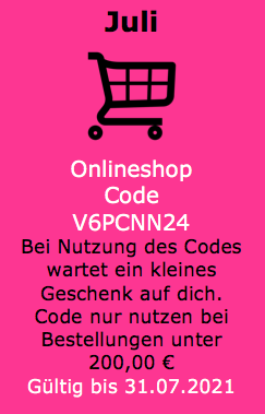 Gastgeberinnen Code für Onlinebestellungen
