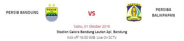 Prediksi Persib Bandung vs Persiba Balikpapan TSC Sabtu 1 Oktober 2016