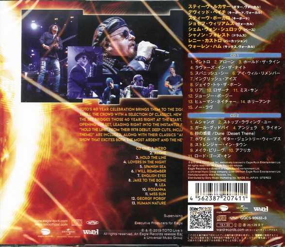 TOTO - 40 Tours Around The Sun [Japan Edition 2-CD] (2019)