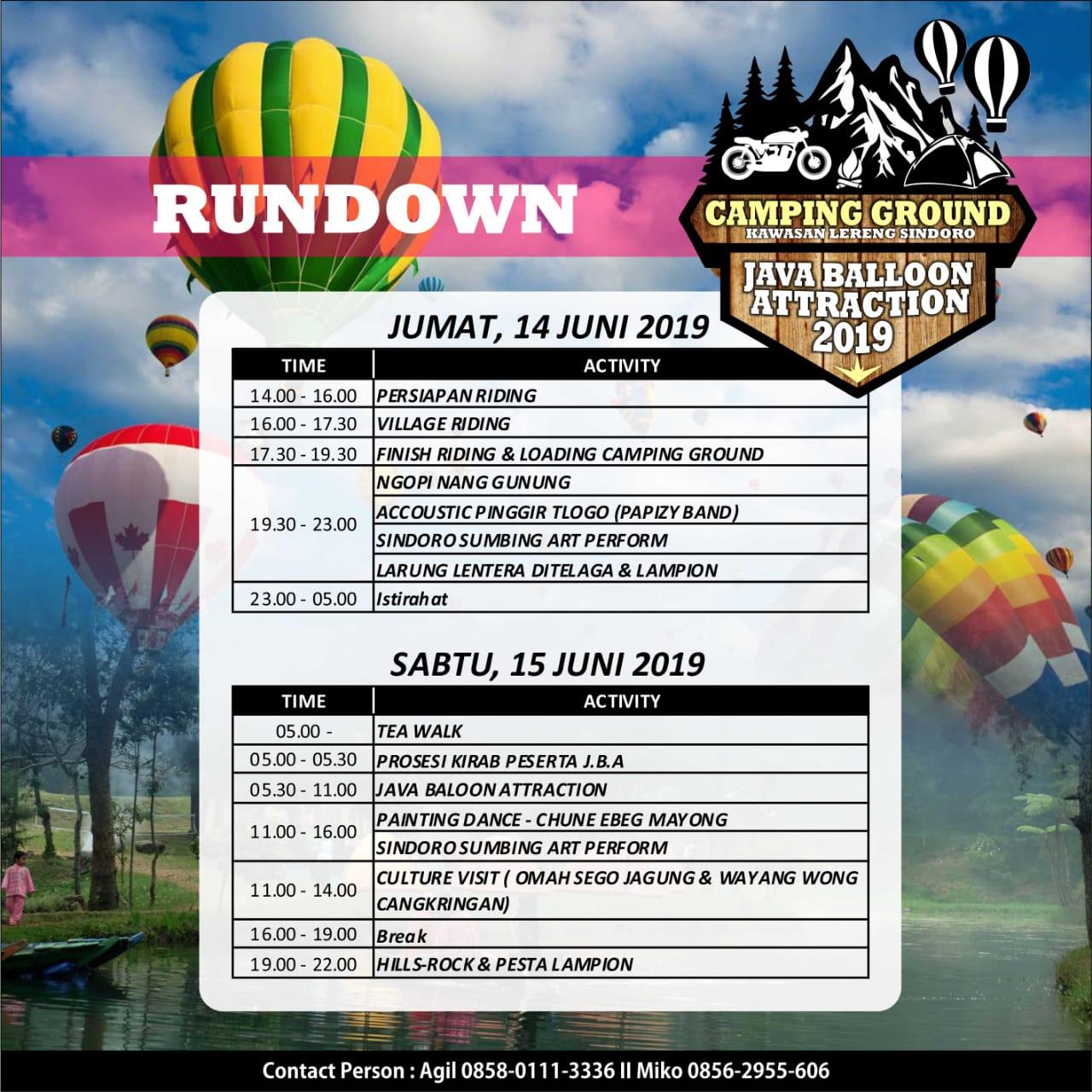 Sindoro Sumbing Riding dan Camping Ground Java balloon Attraction