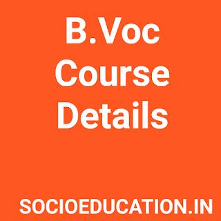 B.Voc Course