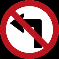 rambu lalu lintas belik kiri kanan