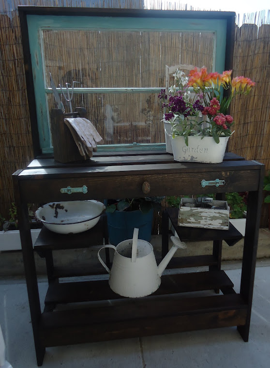 1930s Window Table with Vintage Hardware-SOLD