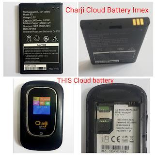 Charji Cloud Battery Imex Model 4G185