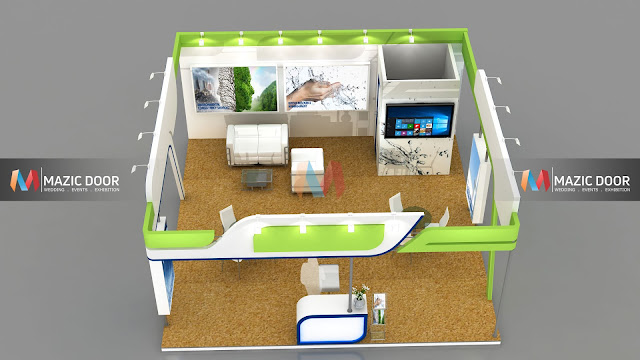 3 side open Exhibition Stall design-4