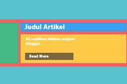 Posting Auto Read-More Tanpa JavaScript