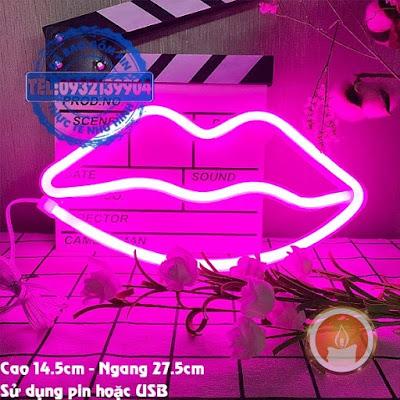 Đèn led neon đôi môi