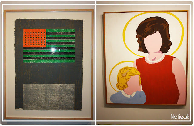 Jasper Johns Flags (1968) Allan d'Arcangelo Madonna and the child (1963)