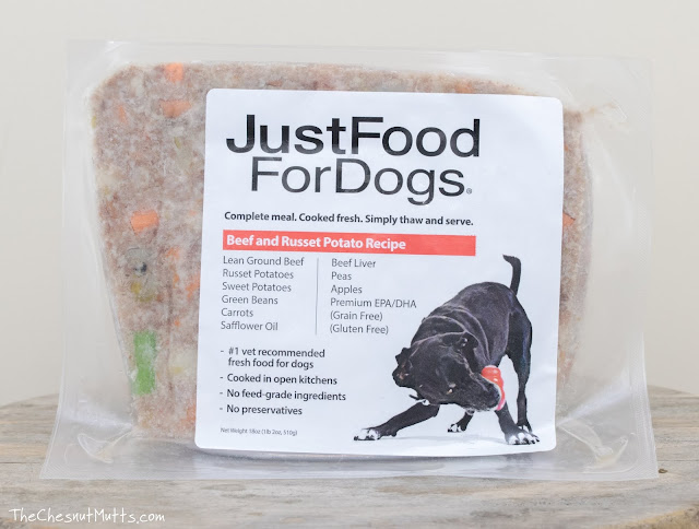 Just Food For Dogs Beef and Russet Potato fresh dog food