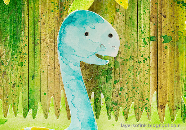 Layers of ink - Dinosaur Slider Card Tutorial by Anna-Karin Evaldsson.
