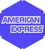 american express hexagon icon