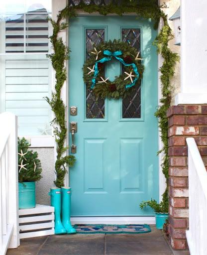 Coastal Christmas Front Door Wreath
