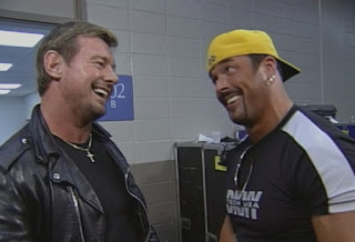 WCW Great American Bash 1999 - Buff Bagwell and Roddy Piper catch up backstage
