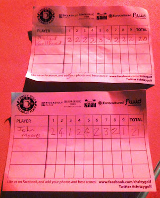 Chrizy Golf scorecards