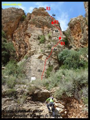 Espolón Remacha, Vía Cristian Gutierrez, Sant Llorenç de Montgai
